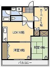 宮崎県宮崎市船塚2丁目の賃貸アパートの間取り