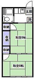 北アパート[1階]の間取り