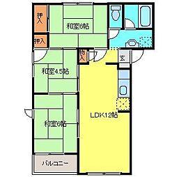 久保山ビレッジ[B-3号室]の間取り