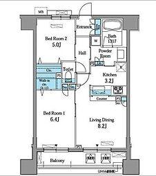レジデンス横濱リバーサイド[2階]の間取り