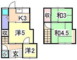 [タウンハウス] 兵庫県姫路市大津区平松 の賃貸【/】の間取り