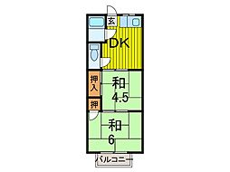 プチメゾン蕨[2階]の間取り