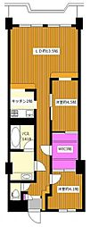 ワコー幡ヶ谷マンションB棟[3階]の間取り