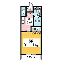 コンフォース・住吉[3階]の間取り