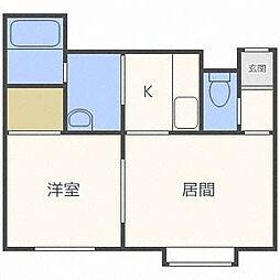 ヴェルデュール東札幌[2階]の間取り