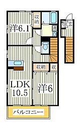 ノールメゾンI[2階]の間取り