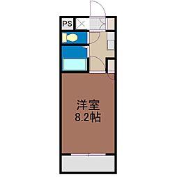 岡山県岡山市北区万成東町の賃貸マンションの間取り