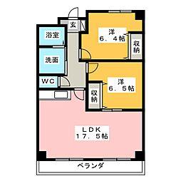 ロイヤルハイツ掛川[2階]の間取り