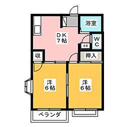 リバーサイド村田[1階]の間取り