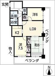 MILE・STONE・IZUMI[11階]の間取り