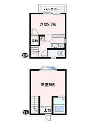 [テラスハウス] 神奈川県横須賀市長沢4丁目 の賃貸【/】の間取り
