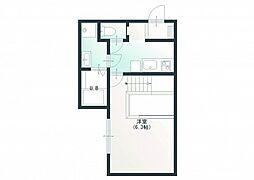 JR芸備線 戸坂駅 徒歩11分の賃貸アパート 2階1Kの間取り
