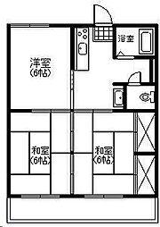 第1祇園ハイツ[4階]の間取り