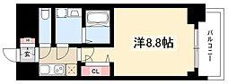 プレサンス錦通THE葵 3階1Kの間取り