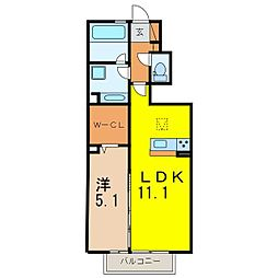 仮) D-room道場山[102号室]の間取り