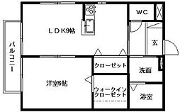 静岡県浜松市中区和合町の賃貸アパートの間取り