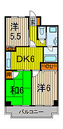 チェスターハウス川口[9階]の間取り