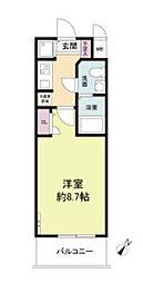 S-RESIDENCE神戸磯上通 2階1Kの間取り