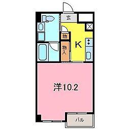 シャトーヨサミ[311号室]の間取り