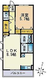 パークハイム横浜鶴見[304号室]の間取り