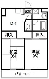 レイクコート富塚[3階]の間取り