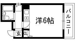 大阪府池田市綾羽1丁目の賃貸マンションの間取り