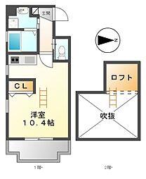 eternal栄(エターナル)[6階]の間取り