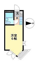 プレスイン六番南[3階]の間取り
