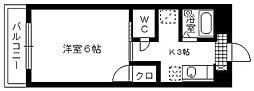 AOYAGI BLD[302号室]の間取り