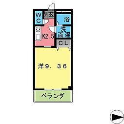 コンフォールサキ[306号室]の間取り