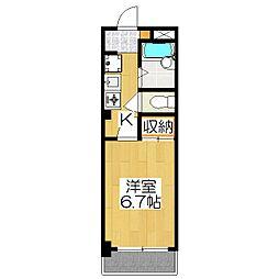 OKUNO御所東ビル[306号室]の間取り
