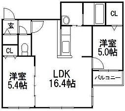 COLORE KITAMARUYAMA(コローレ北円山)[501号室]の間取り