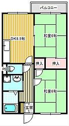 タウニー住之江[2階]の間取り