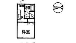 アルカディア 1棟[205号室]の間取り
