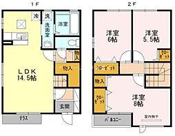 [テラスハウス] 岡山県岡山市北区西古松1丁目 の賃貸【/】の間取り