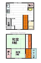 [一戸建] 大阪府吹田市岸部中3丁目 の賃貸【/】の間取り