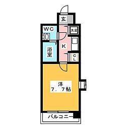 オネスティ高宮[8階]の間取り