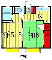 J&K[2階]の間取り