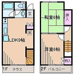 [テラスハウス] 神奈川県横浜市港北区師岡町 の賃貸【/】の間取り