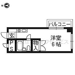 西田マンション[306号室]の間取り