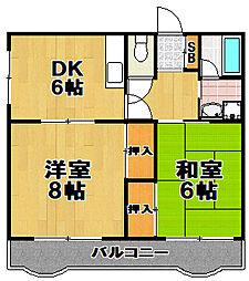 第二セイカイハイツ[5階]の間取り