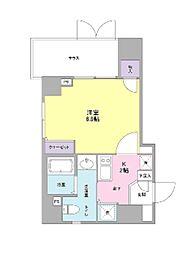 Clover Court Kuromoncyo[1階]の間取り