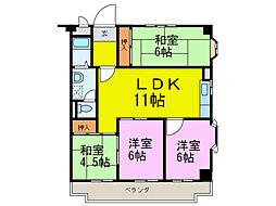 愛知県半田市星崎町2丁目の賃貸マンションの間取り