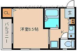YKハイツ上ノ丸[306号室]の間取り