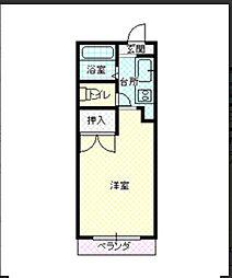 マツイハイツ[203号室]の間取り