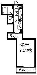 神奈川県横浜市港南区野庭町の賃貸アパートの間取り
