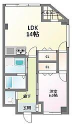 HERBE(エルブ)新大阪[4階]の間取り
