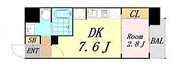 セレニテ新大阪 12階1LDKの間取り