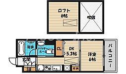 大阪府大阪市北区天神橋4丁目の賃貸マンションの間取り