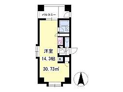 宝寿ビル 3階ワンルームの間取り